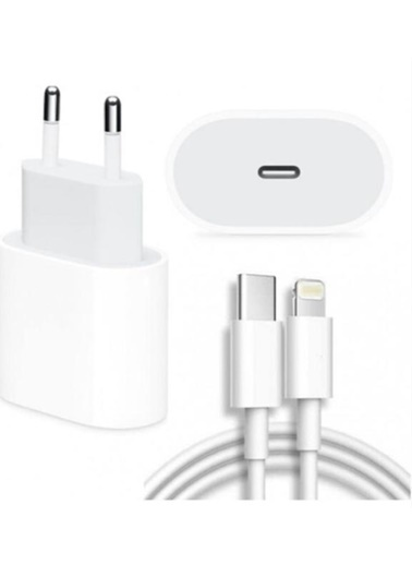 Apple Apple 18w güç adaptörü + 2m USB-C Lightning data şarj kablosu Beyaz